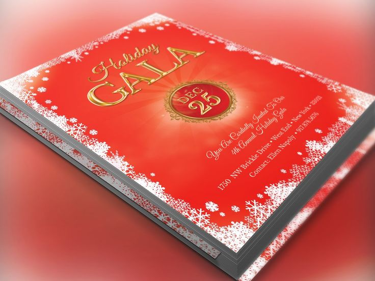 271 best Christmas Print Templates images on Pinterest Fonts and - holiday flyer template example 2