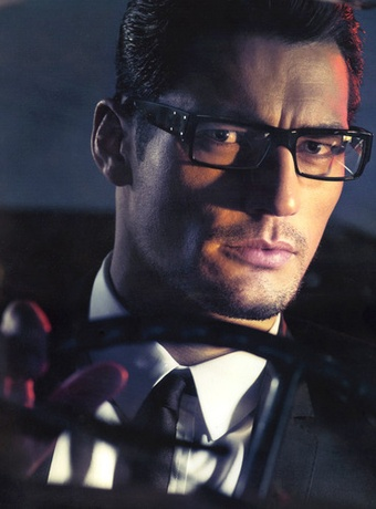 """David Gandy as Professor Gabriel Emerson  """"The Jaguar slowed down even more and came to a stop. As Julia walked by, she saw the passenger door open and a masculine voice called out, """"Get in.""""...But as she looked into the driver's seat and saw two piercing blue eyes stare back at her, she walked slowly toward him...""""You'll catch pneumonia and die. Get in. I'll drive you home."""" p19-20GI"""