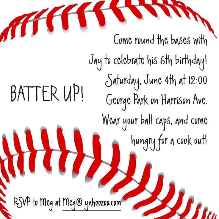 best 25+ baseball invitations ideas on pinterest | baseball party, Birthday invitations