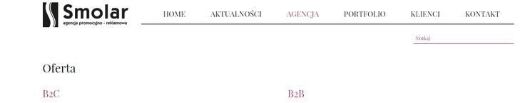 Agencja promocyjno-reklamowa Smolar to wsparcie dzialów sprzedazy i marketingu, którym oferujemy swoje doswiadczenie, wiedze i narzedzia. Specjalizujemy sie w organizacji promocji, konkursów konsumenckich i loterii audioteksowych. http://www.smolar.pl/oferta