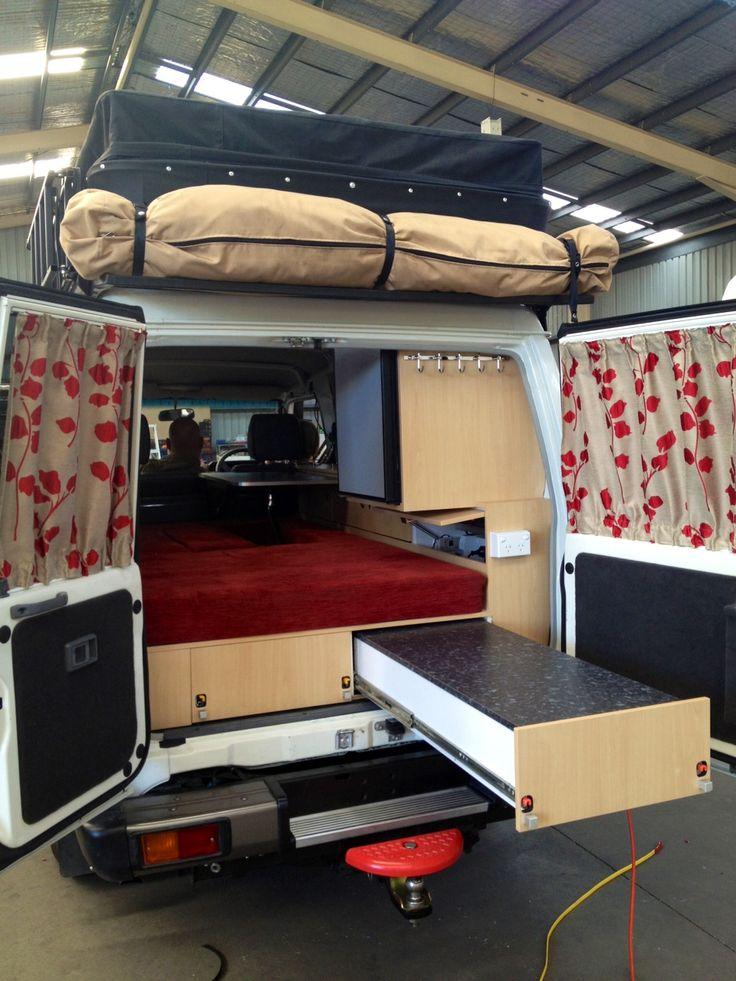 Toyota Landcruiser Troopy Conversions Toyota Land Cruiser Cargo Kitchen Kennel and Sleeping Platform