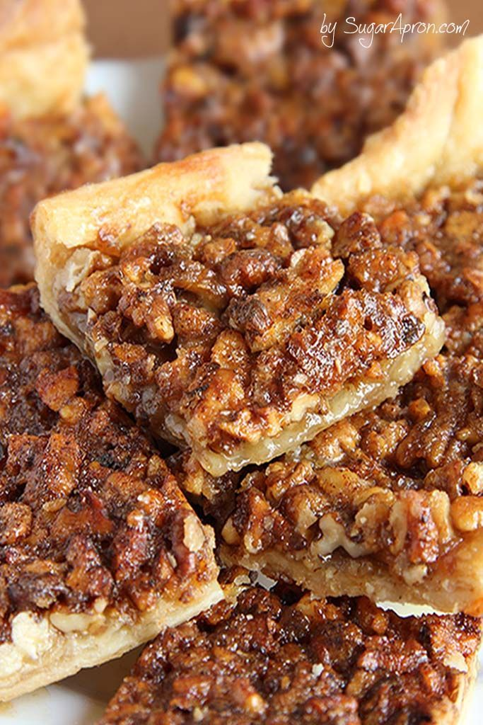 Pecan pie in a bite size bar! Crescent roll dough makes this pecan bar recipe simple and quick to prepare.