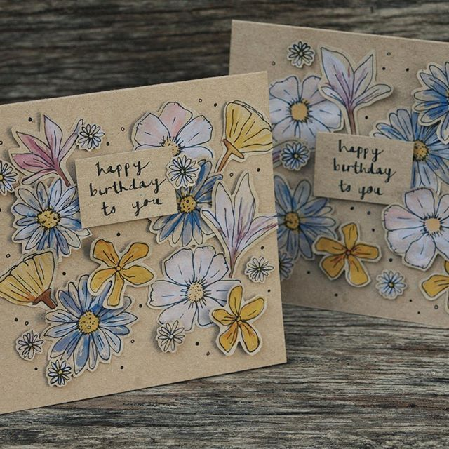 #pretty #floral #birthday cards for some lovely ladies