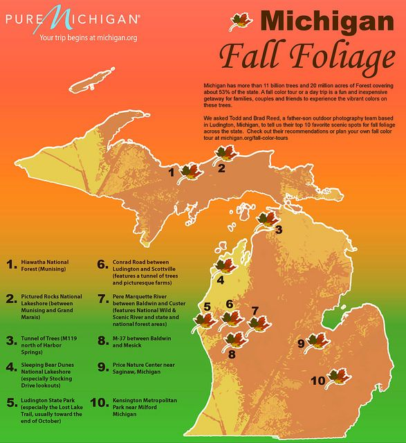Todd and Brad Reed's top 10 picks for fall color tours in Michigan by Pure Michigan, via Flickr