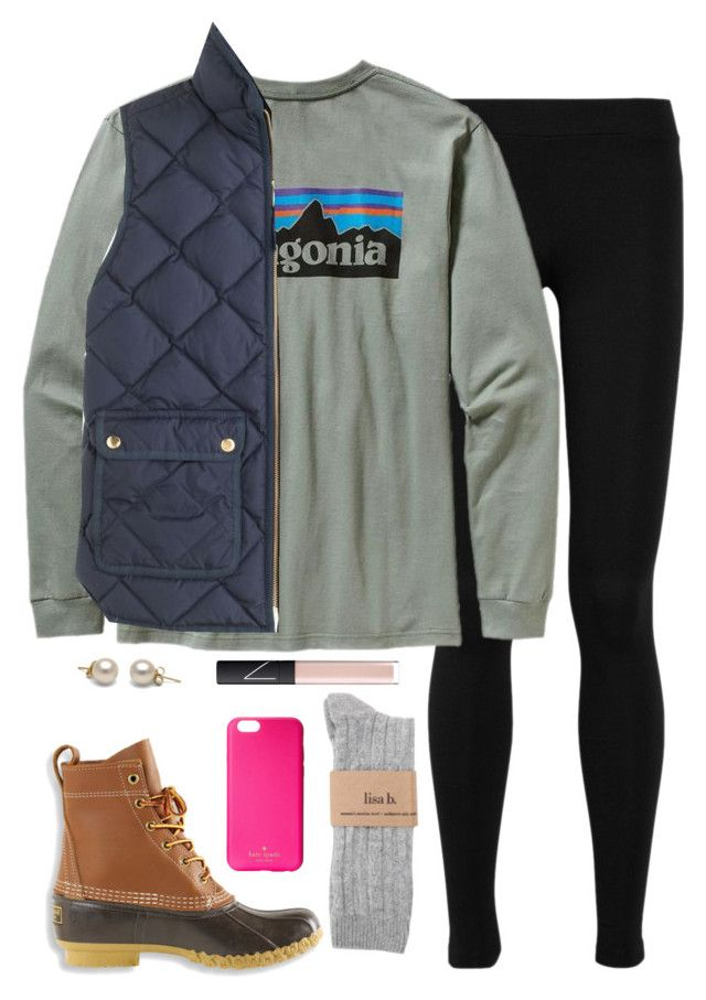 """""""snow day"""" by marycoulbourn ❤ liked on Polyvore featuring Vince, Patagonia, J.Crew, L.L.Bean, NARS Cosmetics, Kate Spade, women's clothing, women's fashion, women and female"""