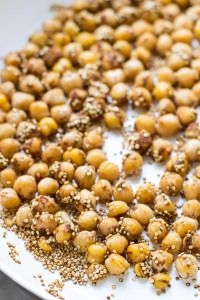 Here is how to make the Spicy chickpeas, these are a great snack any time of the day.
