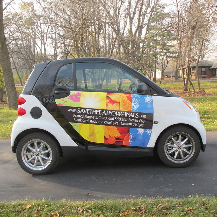 Smart car with side wrap