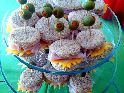 Monster Baby Shower - Monster Sandwiches (via em + the city.)