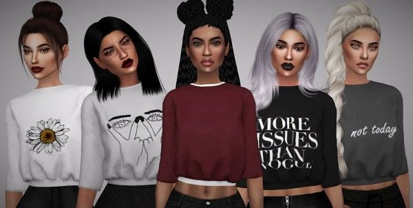 Aveline Sims: Maddie Sweater • Sims 4 Downloads