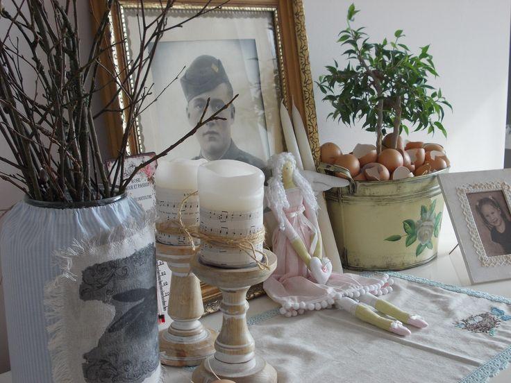 spring on cupboard in living room