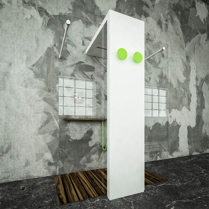 Radiator with integrated shower head: Monolite gets light by Brandoni