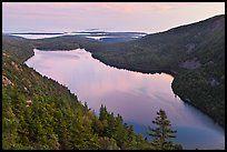 Jordan Pond from above, sunset. Acadia National Park ( color)