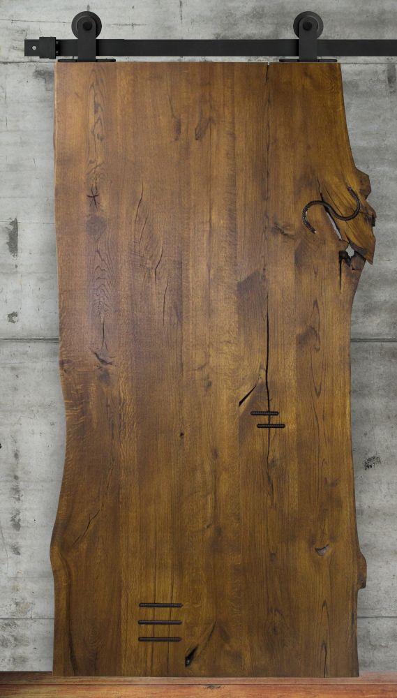 Royal Brown Schiebetur Aus Eichenholz Live Edge Eiche Holz