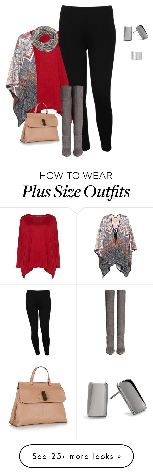 """plus size winter chic"" by kristie-payne on Polyvore featuring Exelle, M&Co, maurices, Gianvito Rossi, Missoni, Gucci, Maison Margiela and Chico's"