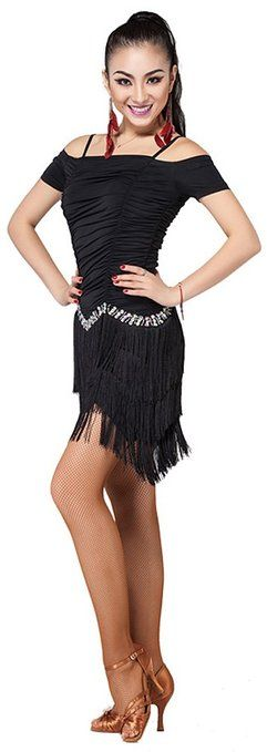 Abby Women's Latin Practice Show Athletic Fringe Dance Braces Skirts: Clothing