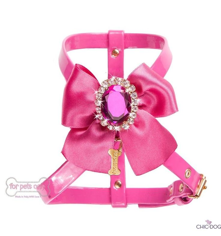 Diamond Love #dog #harness -  pink harness for the most romantic little ladies <3 Pettorina rosa per le cagnoline più romantiche #madeinitaly by For Pets Only on #Chic4Dog