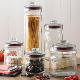 Pot de cuisine hermétique en verre Push top Kilner