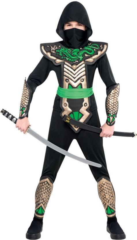 Boys Dragon Slayer Ninja Costume - Top Costumes - Boys Costumes - Halloween Costumes - Party City