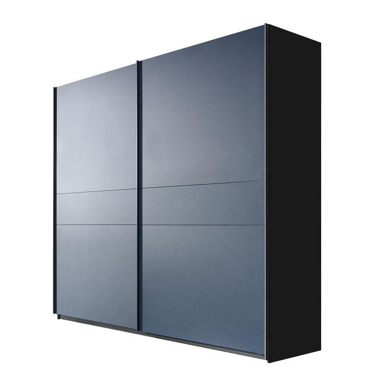 Schwebetürenschrank Bayamo - Graphit/Mattglas Blau - 270 cm (2-türig) - 223 cm, Rauch Select