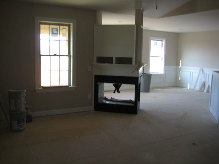 Three Sided Fireplace · New HousesFireplaces