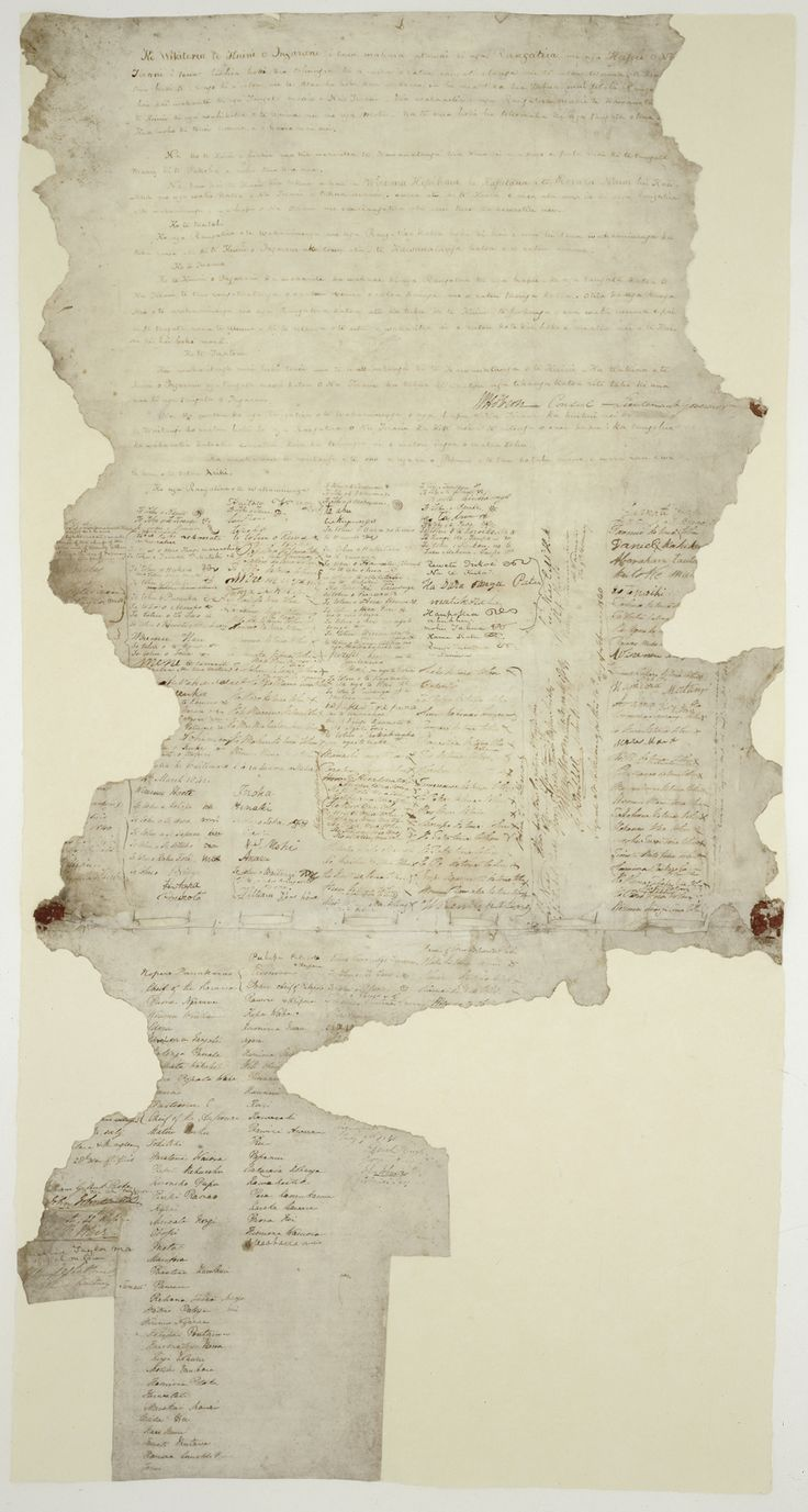 Treaty of Waitangi - Te Tiriti o Waitangi. Partnership agreement between Māori rangatira and the British Crown. The Treaty was drafted in English and translated into Māori by missionary Henry Williams and his son Edward. It was presented to around 500 Māori rangatira at Waitangi on February 5, 1840 and there was much debate. On February 6, approximately 45 rangatira signed the Treaty, Hone Heke being the first. By the end of the year over 500 Māori rangatira had signed the Treaty.