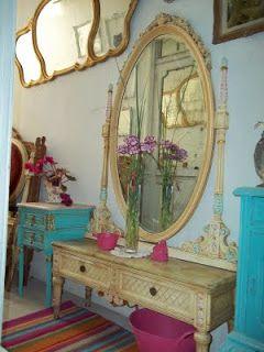 La cabeza de Maria Antonieta: Tocador Luis XVI con espejo ovalado