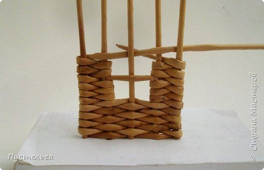 Мастер-класс Поделка изделие Плетение Домик и мельница Трубочки бумажные фото 8
