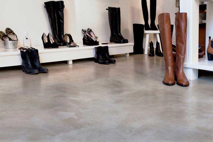 solido cemento lucido autolivellante pavimento continuo
