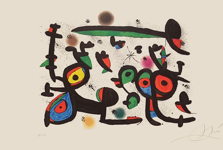 """Joan Miró """"Les Amoureux et Luna Park I"""" Litografía Año: 1981 Dimensiones: 61 x 90 cm Tirada de 100 ejemplares Firmada y numerada a mano Certificada por la Fundació Joan Miró Mourlot 1237 Precio: Consultar Web Web: www.grabados-chillida.com Más información y consultas: grabados-chillida@grabados-chillida.com"""