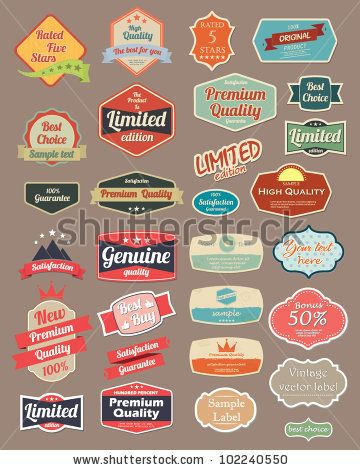stock vector : Retro design label set 4