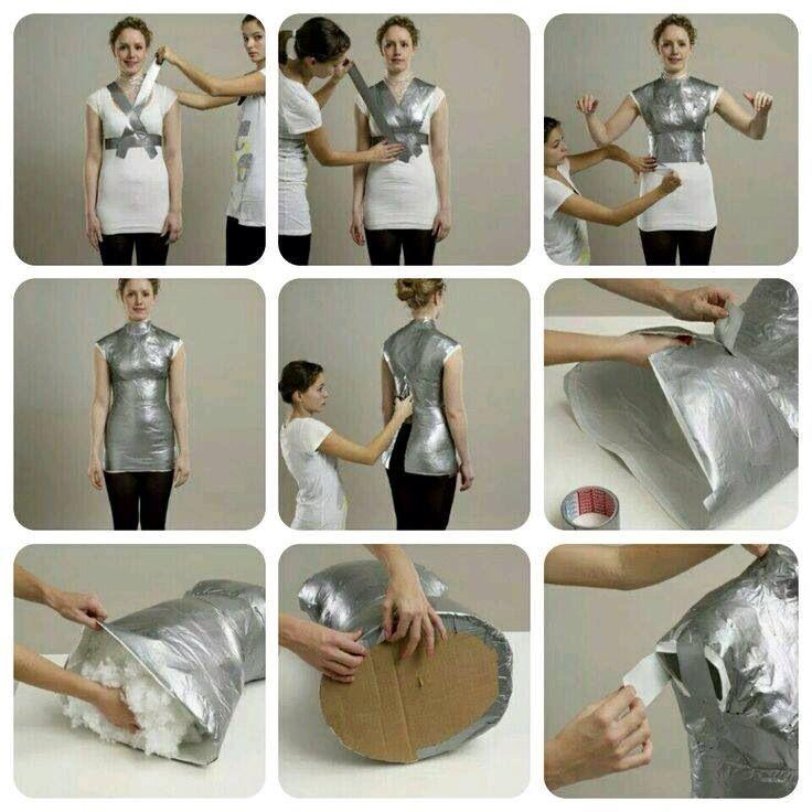 Paspop maken met ducktape (torso)