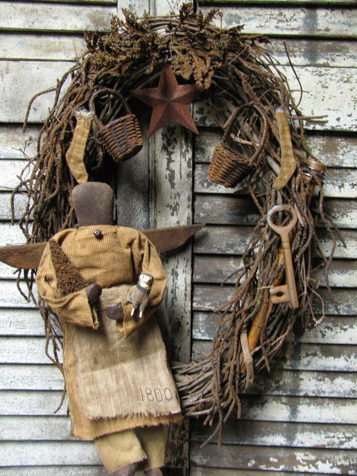 Prim Wreath ♥ -1897 House Primitives