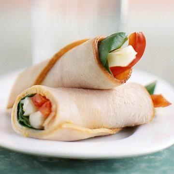 Spinach-Turkey Wrap Snacks