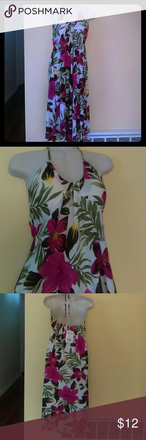 Summer dress Midi summer dress.  Padded front and neck tie adjustable strap Dresses Midi