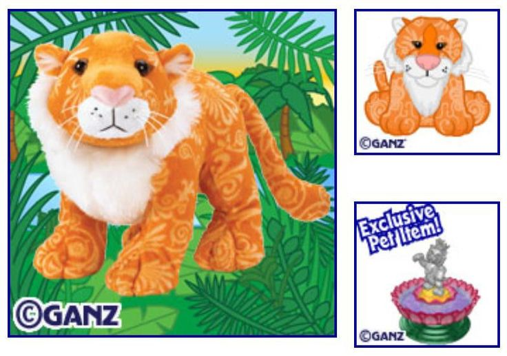 NEW Webkinz MAJESTIC TIGER~Unused Code~Wild Asian Cat~Stuffed Plush Animal Toy #Ganz
