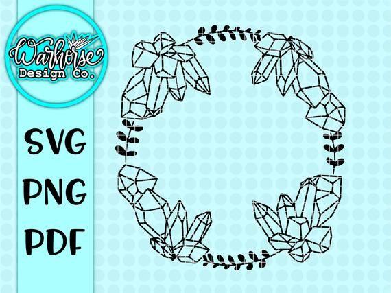 Crystal Wreath Svg Crystal Svg Crystal Png Crystal Wreath Etsy In 2021 Svg Mermaid Svg Crystal Art
