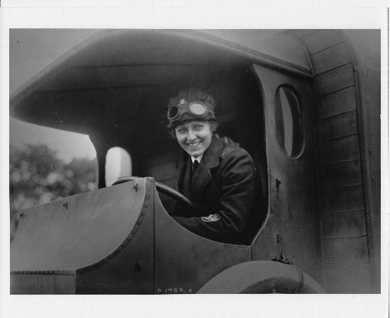 A Canadian Voluntary Aid Detachment ambulance driver at the front. May 1917.