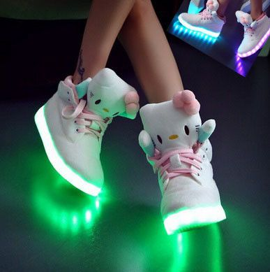HELLO KITTY - 8 Colors In 1, Re-Chargeable Light Up Shoes! - Hot100Fashions
