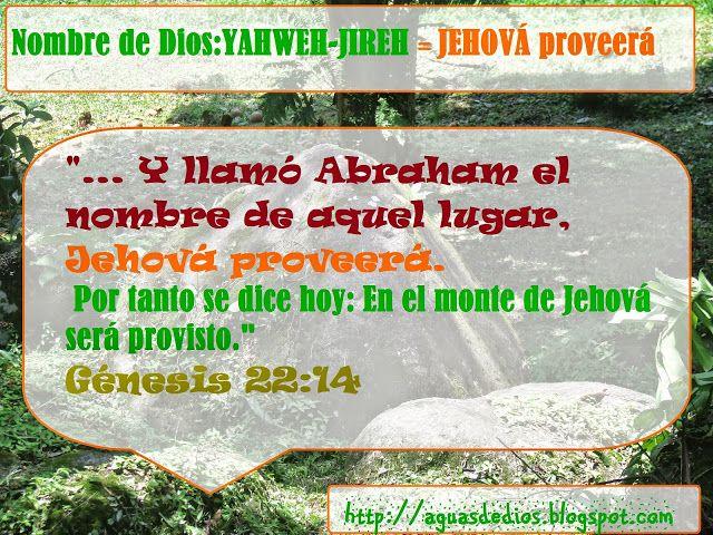 """Compartamos la Palabra de Dios: """"...Y llamó Abraham el nombre de aquel lugar, Jehová proveerá. Por tanto se dice hoy: En el monte de Jehová será provisto."""" Génesis 22:14"""
