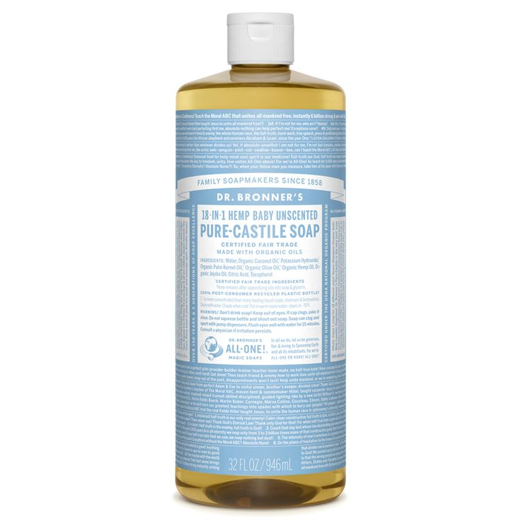 Dr. Bronners baby unscented soap $18