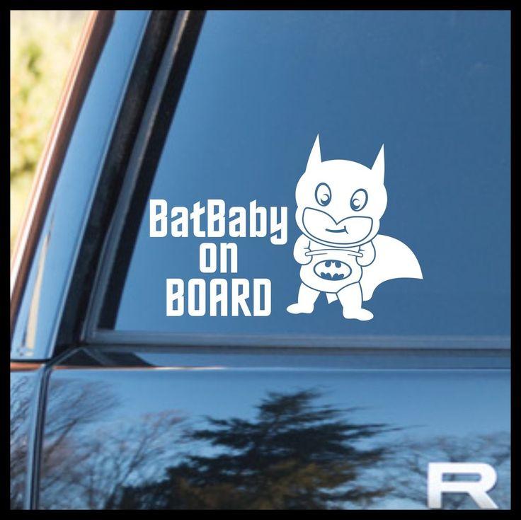 BatBaby on BOARD - with Baby Batman Fan Art Vinyl Car/Laptop Decal
