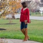 Casual Dinner Outfit: Split Back Boyfriend Sweater + OTK Boots