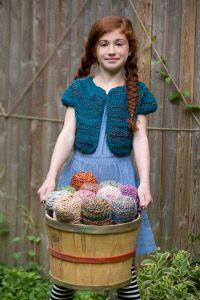 Isn't this Country Cute Cardi perfect to make for #ILoveYarnDay? Every little girl will look adorable in it!