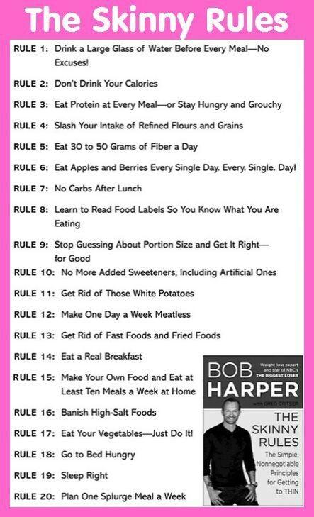 Biggest loser trainer Bob Harper's rules of the skinny