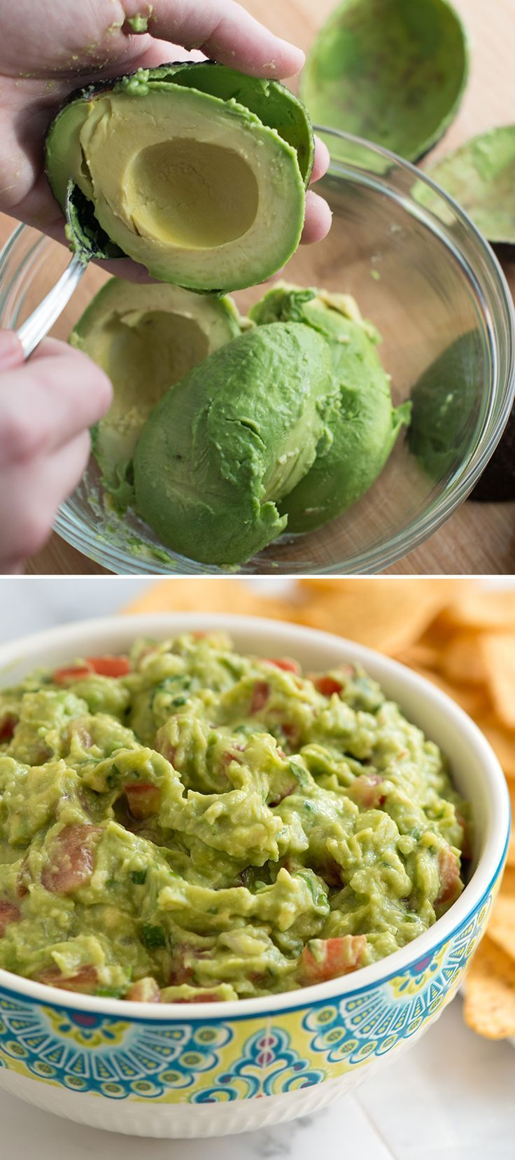 Our favorite guacamole recipe is easy, fresh and no matter what else we serve with it, is ALWAYS the first to go.