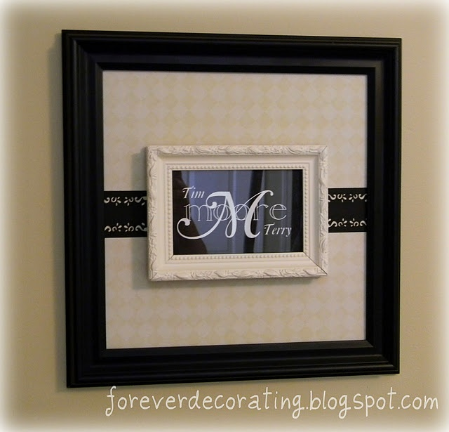 2 frames in one: Wall Art, Forever Decorating, Frames, Decorating Ideas, Monogram, Craft Ideas