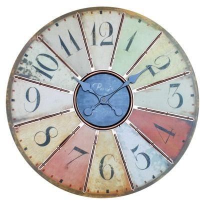 Large multi colored wall clock for the home pinterest for Large wall clocks target