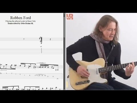 Robben Ford - 'Playing the altered scale in blues' lick
