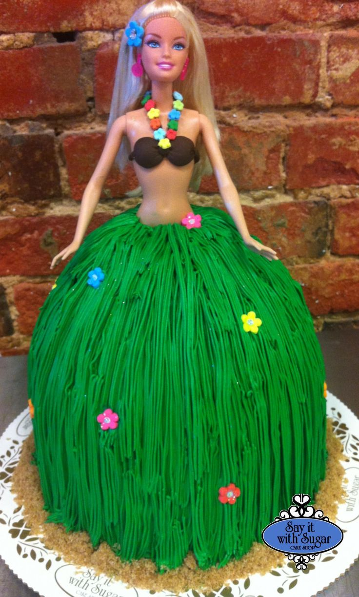 Hula Barbie Cake Cakes Luau Birthday Cakes Barbie