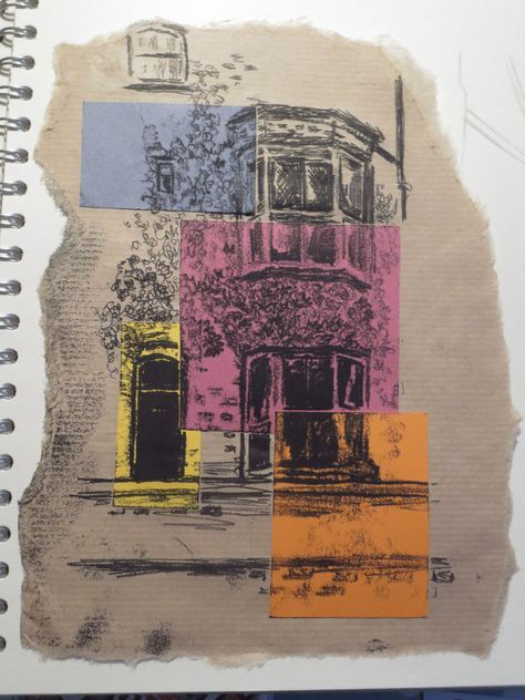 printmaking artists architecture monoprint - Google Search